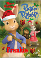 Peter Rabbit Christmas Card A5 Personalised with own words