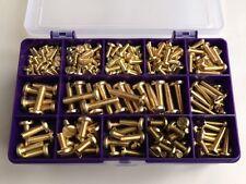 Latón Tornillos de Cabeza Plana Ranurado métrica surtidos Caja Kit De 235 piezas de M3, M4, M5, M6
