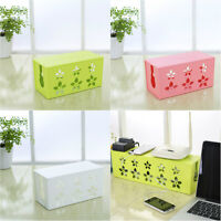 Hollow Flower Cable Box Plug Socket Tidy Organizer Storage Case 3 Colors Home SP