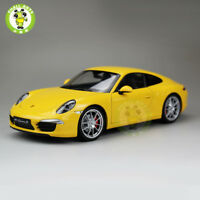 1/18 Porsche 911 Carrera S Diecast Welly Car model Toy Gift 18047 Yellow