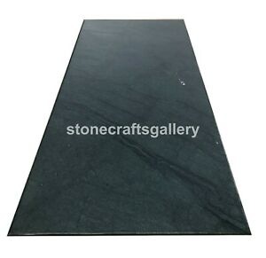 """25""""x50"""" Green Marble Center Dining Table Tops Handmade Furniture Decorates B103A"""