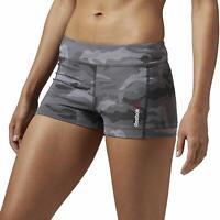 Reebok Women's One Series Camo Hot Shorts - Charcoal - AJ0710
