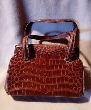 sac à main en véritable cuir de crocodile