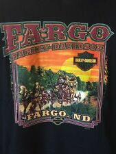 HARLEY DAVIDSON FARGO, ND Bar & Shield STAGECOACH Design T-SHIRT, Size 2XL, NEW