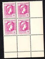 VARIÉTÉ N°635  (le chiffre 70 décalé  tenant aux normaux ) bloc 4 Neuf** BDF