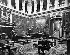 Photo. 1880s. Buckinghamshire, UK. Interior of Mentmore Towers