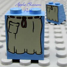 NEW Lego Female Minifig Medium BLUE SKIRT Castle/Pirate Peasant Girl Dress Slope