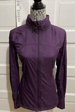 Lululemon Rush Hour Jacket Size 8 Darkest Magenta Purple $148
