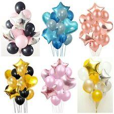 "14pcs/set Confetti BALLOONS Metallic LATEX PEARL 12"" Helium Balon Birthday Party"