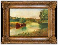 Louis Michel Eilshemius Original Oil Painting On Board Signed Landscape Artwork