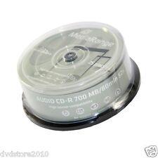 600 MEDIARANGE CD-R 52x 700mb 80 minuti AUDIO cake 25 cdr mr223 + 1cd verbatim