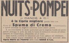 V0543 Cipria NUITS de POMPEI di Rancé - Pubblicità d'epoca - 1931 advertising