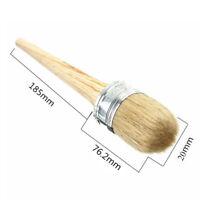 Wooden Handle Round Bristle Chalk Oil Paint Painting Wax Brush Artist 20-50mm