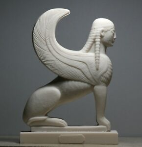 SPHINX Greek Mythical Woman Headed Lion Statue Handmade Sculpture figure 6.9 in