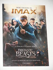 "Fantastic Beasts and Where to Find Them ""IMAX"" 9x13 Inch Promo Movie POSTER"
