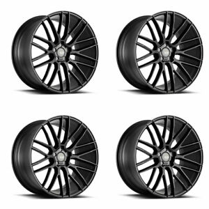 "19"" SAVINI BM13 BLACK CONCAVE WHEELS RIMS FITS BMW 528 530 535 545 550"