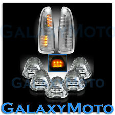 03-07 Ford Super Duty Clear Lens Amber LED Mirror Turn Signal+5pcs Cab LED Light