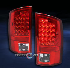 2007-2008 DODGE RAM 1500/2500/3500 TRUCK LED TAIL BRAKE LIGHT SET RED/CLEAR LENS