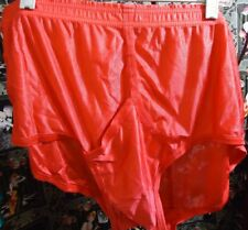 Nos Vtg 70s Red All Nylon Tricot Jockey Briefs Underwear sz 40 Waist 31-38 As Is