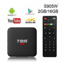 T95 S1 Smart TV BOX 2 GB + 16 GB S905W Quad Core Android 7.1 2,4 GHz WiFi 4K