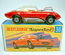 Matchbox SF Nr.36B Draguar rotmetallic klare Scheibe in Box