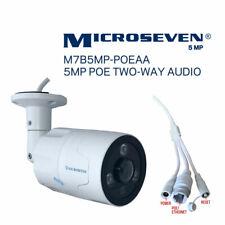 Microseven 5MP PoE Outdoor IP Camera 2 Two Way Audio+128GB Slot Work with Alexa