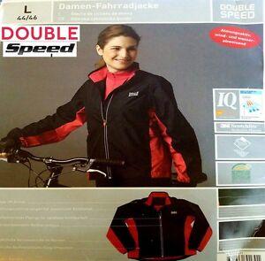 Damen Fahrradjacke Regenjacke Double Speed Schwarz-Rot NEU