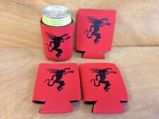 Fireball Whisky Red Drink Koozies Can Cooler Coozie - 4 Pack - NEW & Free Shipn.