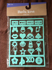 Teal Green Plastic Letter Board Icons For Felt Letterboard NEW-Target - EB67