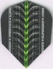 Green HARROWS SUPERGRIP Dimplex Ribs Dart Flights: 3 per set