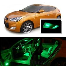 For Hyundai Veloster 2011+ Green LED Interior Kit + Green License Light LED