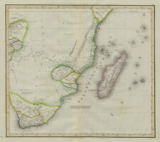 "South-east Africa, mostly ""unexplored"". Madagascar Tanzania. LIZARS 1842 map"