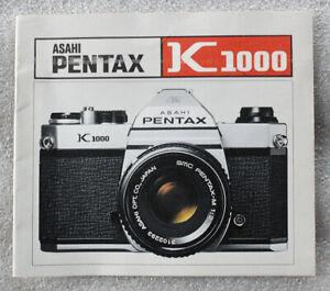 ASAHI PENTAX K1000 camera instruction manual