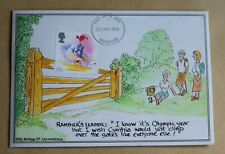 SPORT 1988 RARE HAND PAINTED 'I WISH CYNTHIA WOULD JUST CLIMB OVER THE GATE' FDC