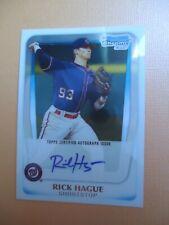 Rick Hague - 2011 Bowman Chrome RC Autographed Baseball card #BCP112 - Nationals