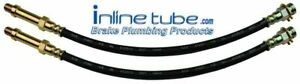 67 Ford Mustang GT Shelby Front Disc Drum Brake Rubber Flex Hoses Line DOT H602