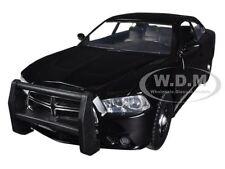 2011 DODGE CHARGER PURSUIT SLICK UNMARKED BLACK POLICE CAR 1/24 MOTORMAX 76953
