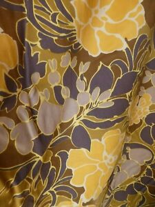 Vintage Pretty Calpreta fabric Large, fully lined curtains! Gorgeous, unusual!