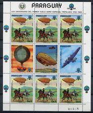 Paraguay 1984 Luftfahrt Ballon Aviation Luftschiffe 3704 Kleinbogen ** MNH