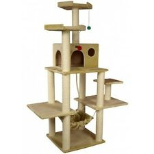 Cat Tree House Condo Furniture Post Pet Play Scratching Tower Beige 72 Inches