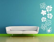 Hibiscus Flowers - highest quality wall decal stickers