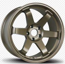 Avid1 AV06 18X8.5 Rims 5x114.3 +35 Bronze Te37 Style Concave Rota Wheels New Set