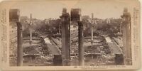 Forum Roma Capitol Ruines Italia Foto Stereo Vintage Albumina 1897