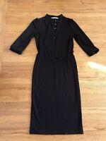 DVF Diane Von Fustenberg Womens sz 6 eggplant color  Wool long dress