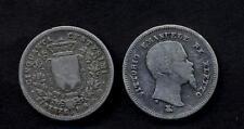 RE ELETTO VITTORIO  EMANUELE II 50 CENTESIMI 1860 F MB