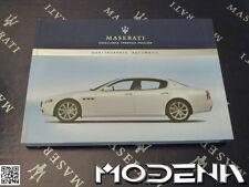Betriebsanleitung Handbuch Bordbuch Owners Manual Maserati Quattroporte Auto