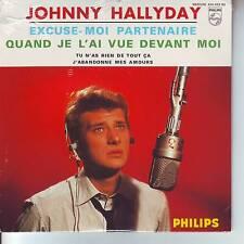 CD 4 titres JOHNNY HALLYDAY excuse moi partenaire *quand je l'ai .. ..(CD n°29)