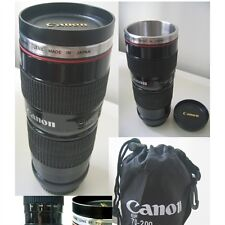 Canon Lens EF Thermal Travel Mug Cup Tumbler Flask 1:1 70-200mm Stainless inside