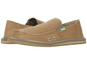 Men's Shoes Sanuk VAGABOND HEMP JUTE Casual Slip On Loafers 1112771 KHAKI