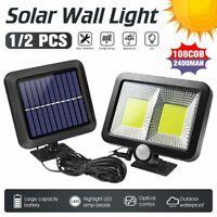 108 LED COB Solar Power Wall Light Motion Sensor Outdoor Garden Security Lamp